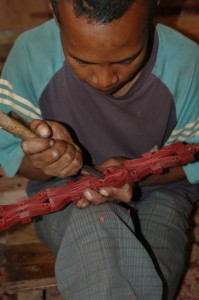 Woodcarver in <a href=