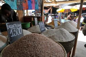 Reisangebot auf einem Markt