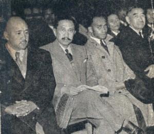 Ravoahangy, Raseta und Rabemananjara (von links nach rechts)