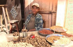 Erdnuss Händler in Madagaskar